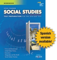 GED Exercise Books Student Workbook Social Studies